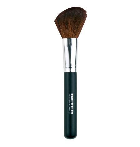 Brocha de maquillaje angulada pelo de cabra 15 8 cm