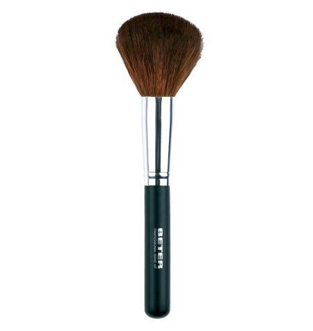 Brocha maquillaje gruesa  pelo de cabra  18 5 cm