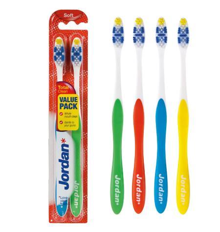 Pack 2 unidades Cepillo dental Total Clean. Dureza suave