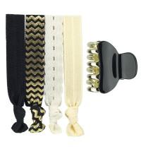Black & gold hair ornaments combination