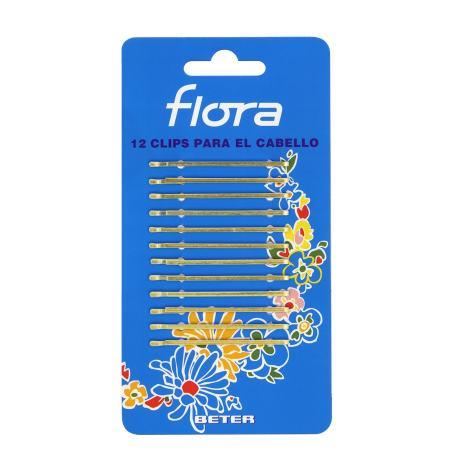 12 CLIPS FLORA DORADO