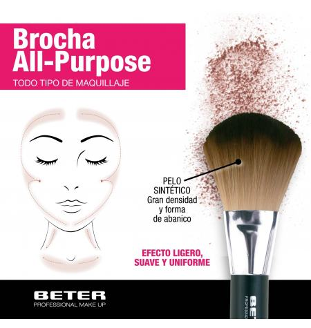 Make up brush, synthetic hair