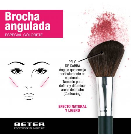Angled make up brush, goat hair