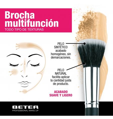 Duo fiber make up brush. Mixed hair