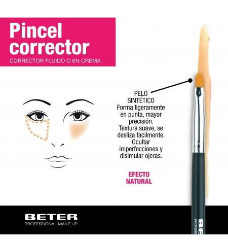 Concealer brush. Synthetic hair