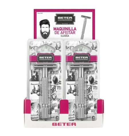 Expositor maquinillas afeitar metálica
