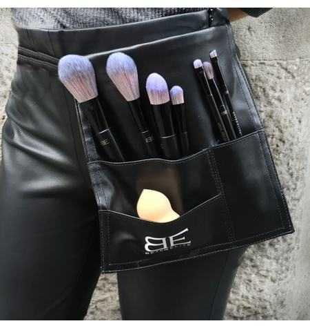 Cinto Make up Beter Elite, oito escovas e pincéis