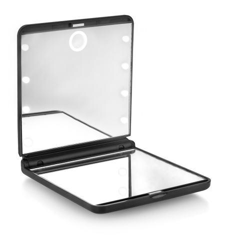 Espelho duplo compacto con 8 luz LED Oooh! Light Touch