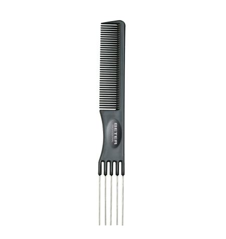 Professional teasing comb, handle with 5 prongs