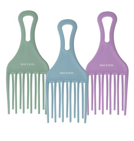 Double prong afro comb