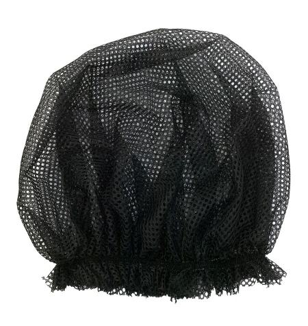 Hair net with elastic band