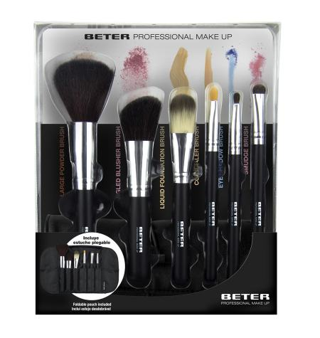 Kit completo com 6 pincéis Professional Make up