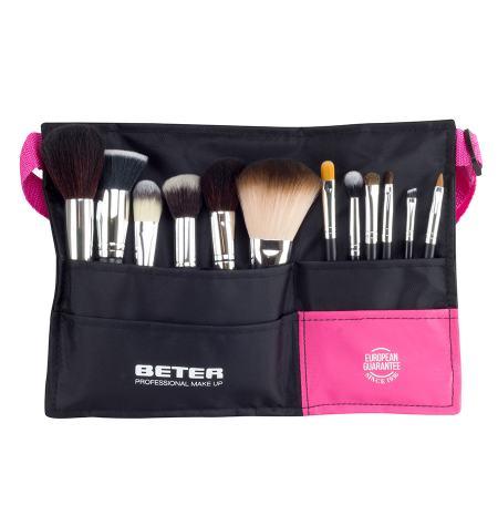 Cinto Professional Make up, catorze escovas e pincéis