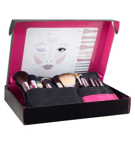 Cinturón Professional Make up, catorze brochas y pinceles