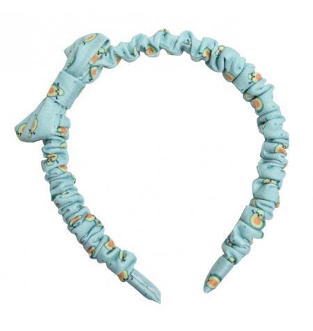 Headband with bow and avocado pattern