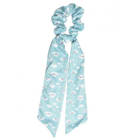 Scrunchie estilo pañuelo estampado Sueños&Nubes