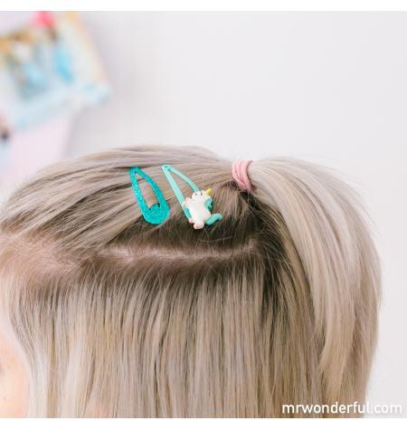 Set of 4 unicorn clips