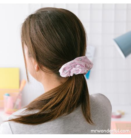 Scrunchie with unicorn pattern