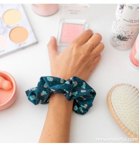 Scrunchie with cactus pattern