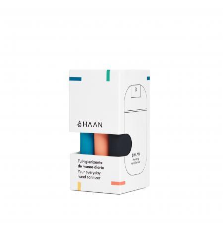 Pack de 3 Haan Pocket higienizante para as mãos: Sunset Fleur, Morning Glory e Wood Night
