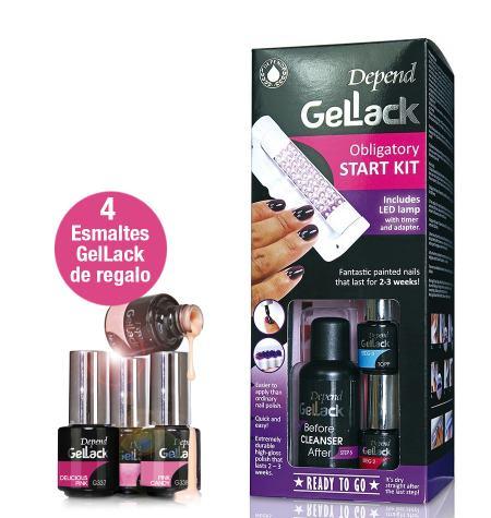 Kit básico esmalte permanente GelLack + 4 esmaltes de regalo