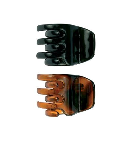 Tortoise shell & black claw clip -2 pcs-