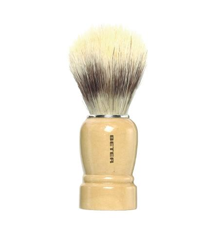 Pincel de barbear cabo madeira