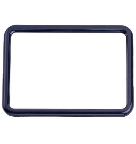 Stand mirror with frame