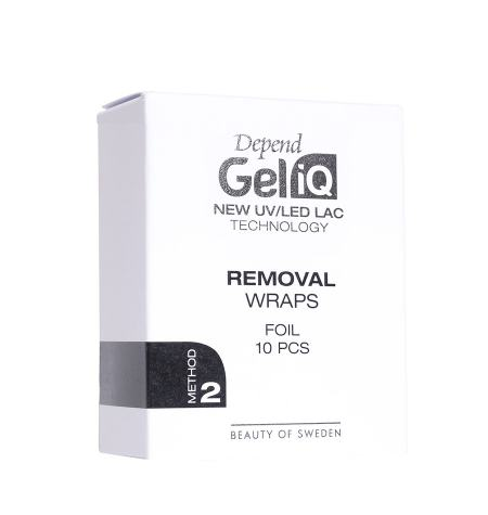 Bandas para quitaesmaltes Gel iQ Removal Wraps Folie