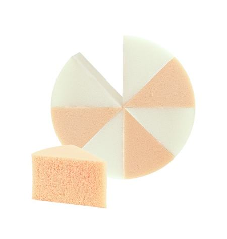 Esponja de maquillaje partible, látex 7 cm dia.