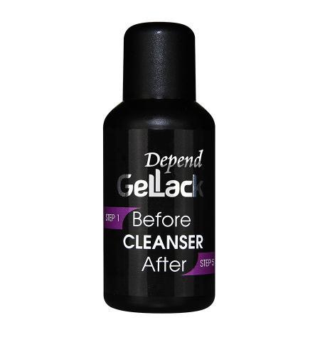 Limpador GelLack antes e depois
