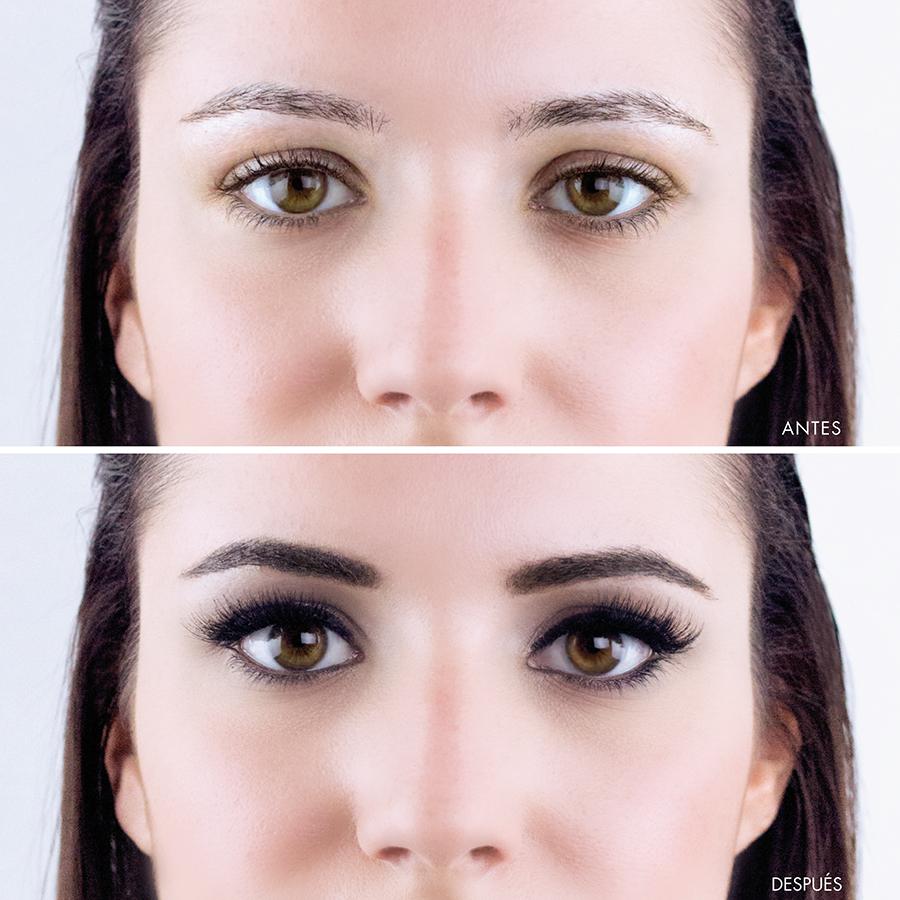 Tinte de cejas antes y despues de adelgazar