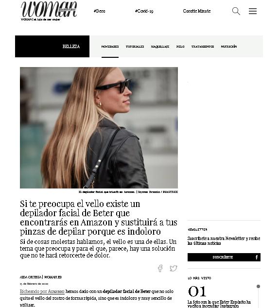 Depilador Facial Beter en Woman.es
