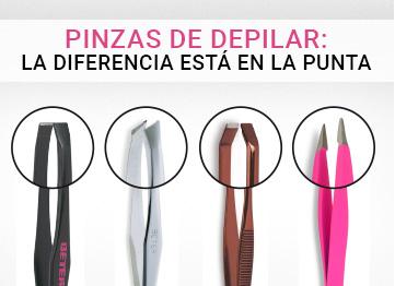 Pinzas de depilar: la diferencia está en la punta