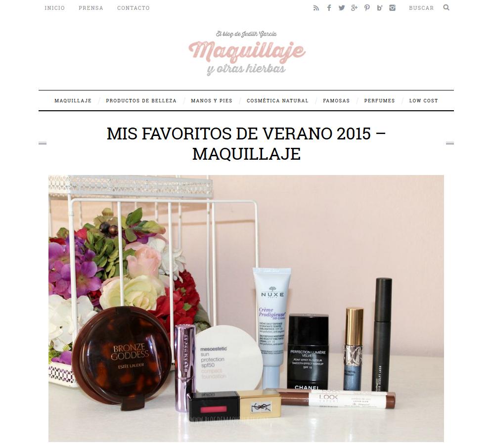 Maquillaje y Otras Hierbas (Septiembre, 2015)