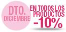 10% Dto Diciembre todos productos